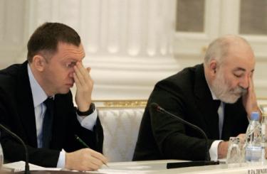 Бизнесмены Олег Дерипаска и Виктор Вексельберг